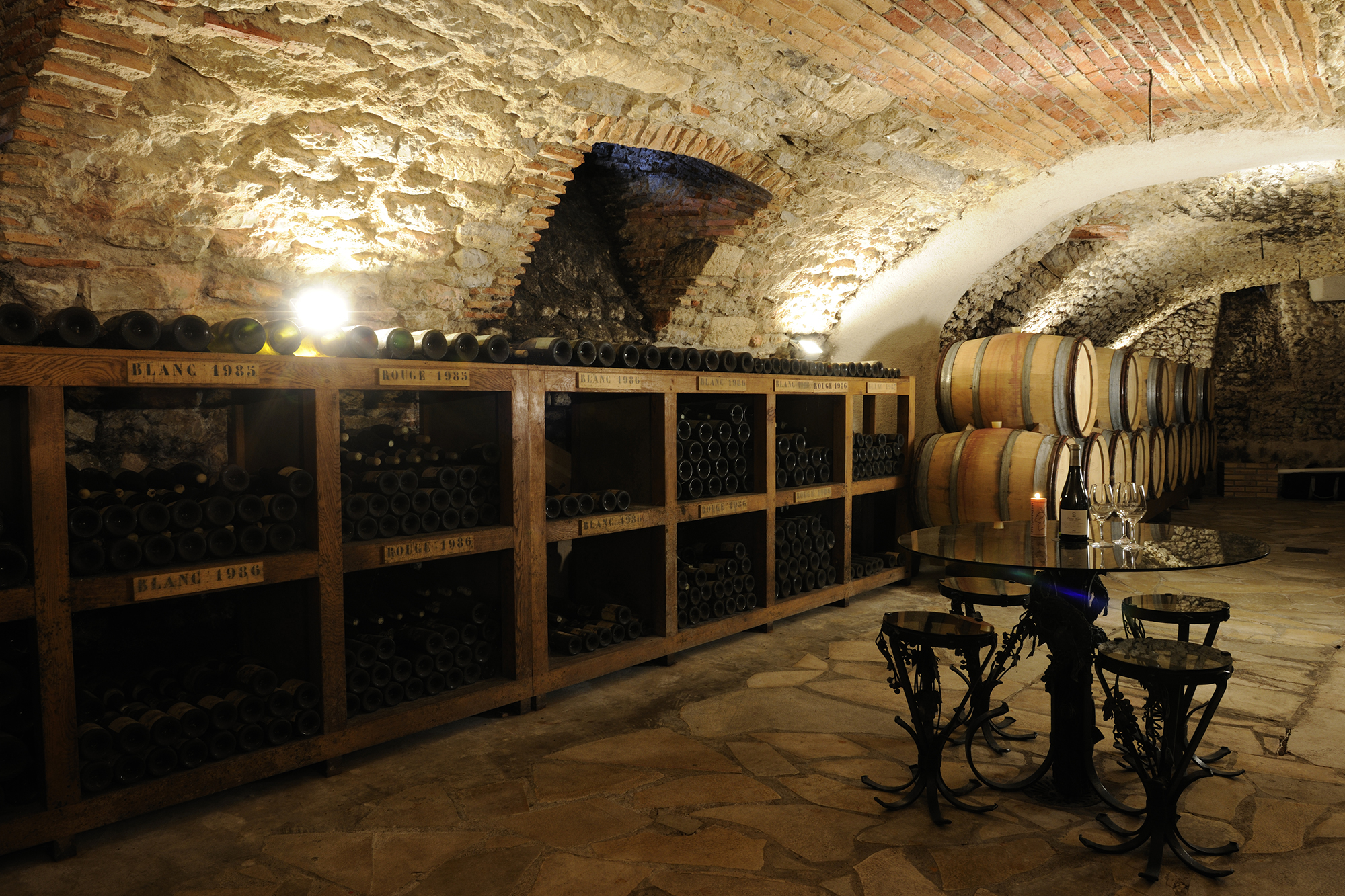 A view of the Bourgeois private cellar
