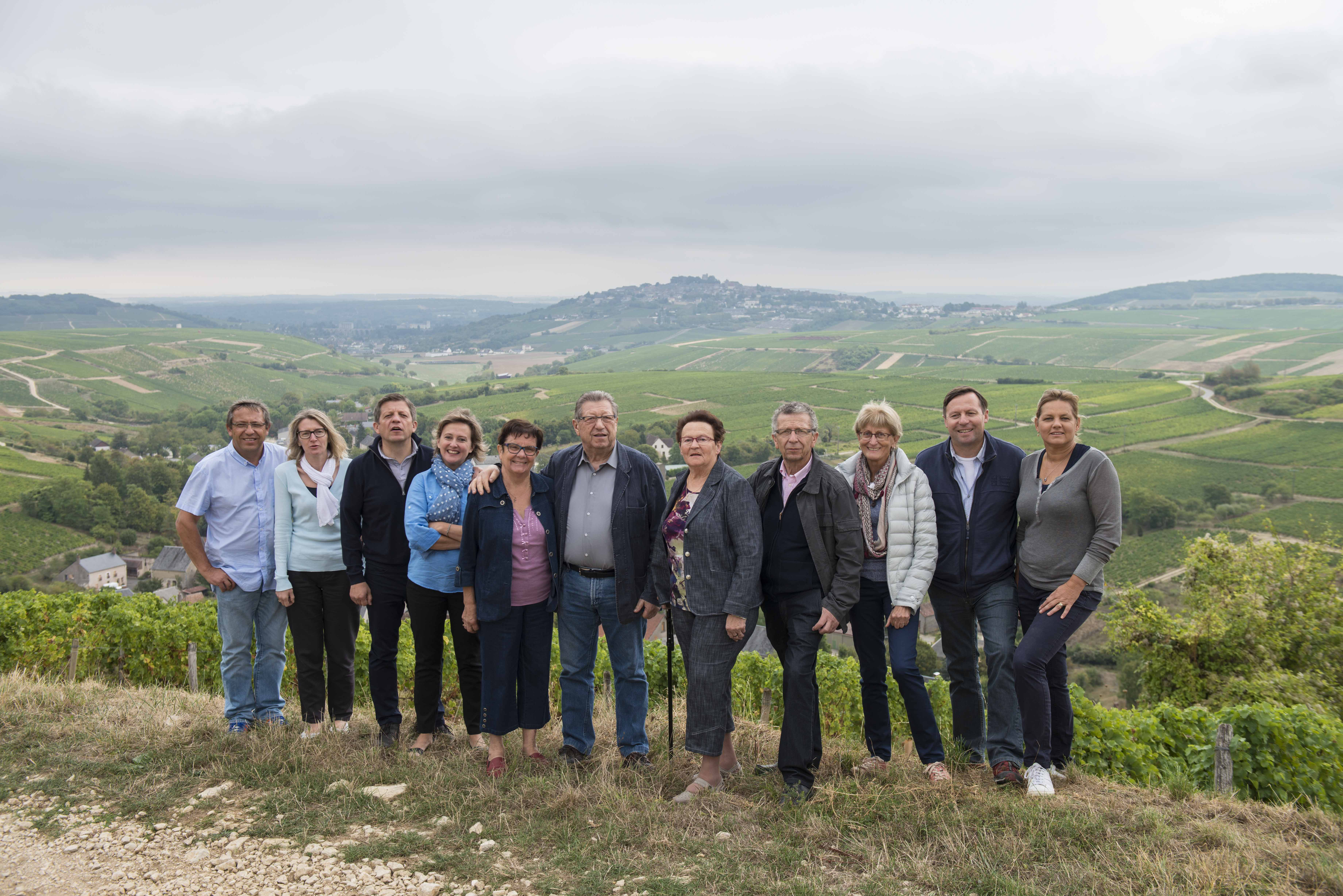 Bourgeois Family: Jean-Marie (Retired Chairman), Jean-Christophe (Winemaker), Lionel (Vineyard Manager), Arnaud (General Manager) & Raymond (Tasting Room Manager)