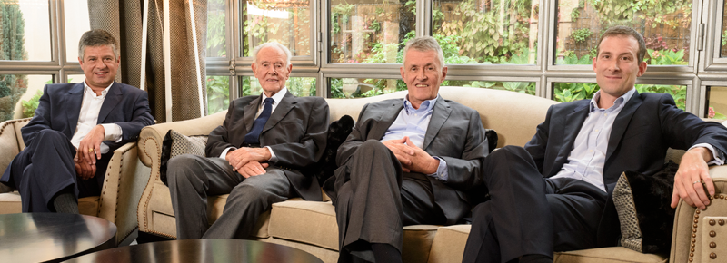 From left to right: Antoine Roland-Billecart, Jean Roland-Billecart, François Roland-Billecart and Mathieu Roland-Billecart